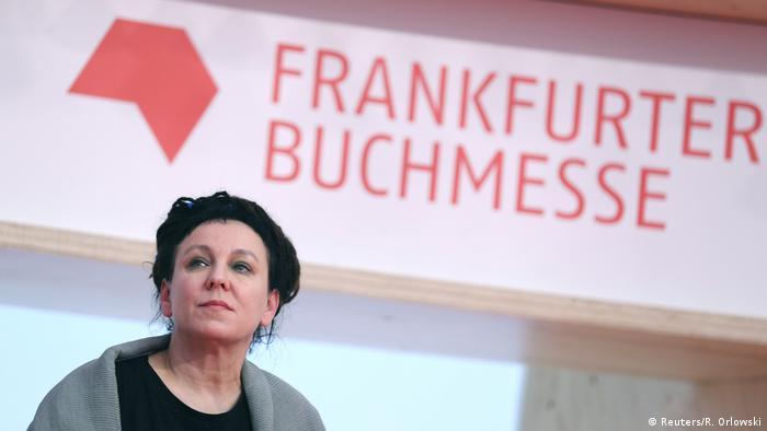 Nobel Prize in Literature winner Olga Tokarczuk at the Frankfurt Book Fair