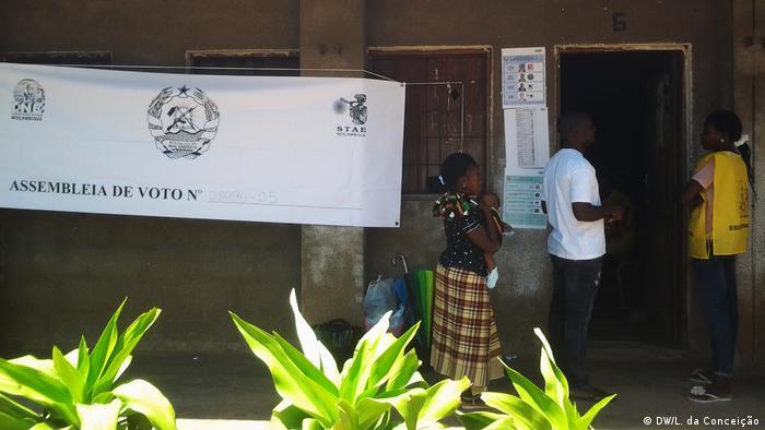 Wahllokal in Inhambane