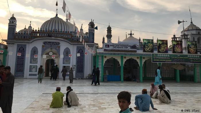 Shah Abdul Latif Bhitai's mausoleum in SIndh, Pakistan