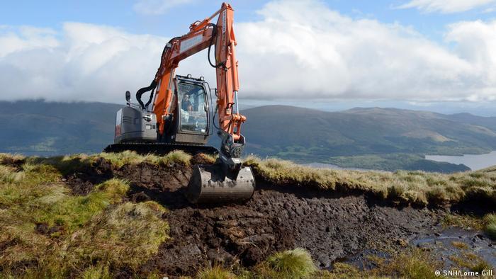 working on peat hags in Loch Lomond