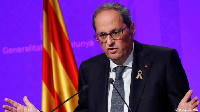 Spanien Barcelona | Quim Torra, Präsident Regionalregierung von Katalonien (Reuters/A. Gea)