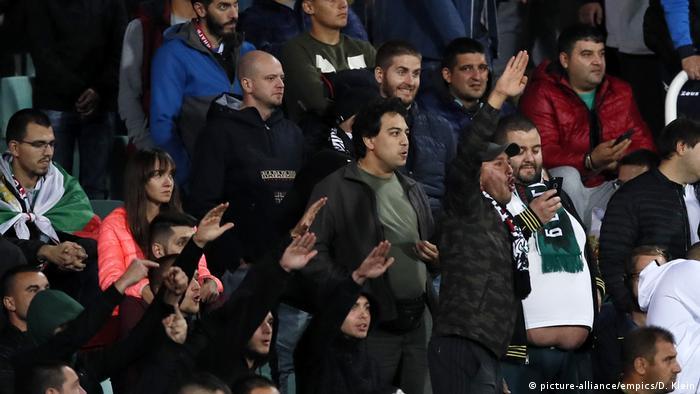 Фрагмент матча Болгария - Англия (14 октября 2019 г.)