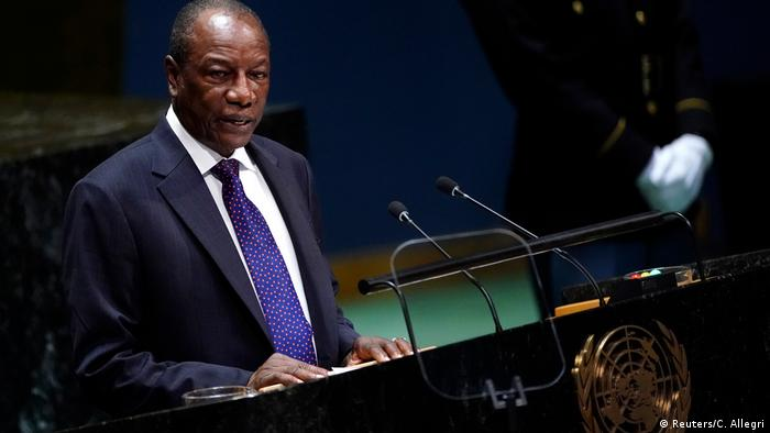 Alpha Conde, Guinean President, addresses the United Nations