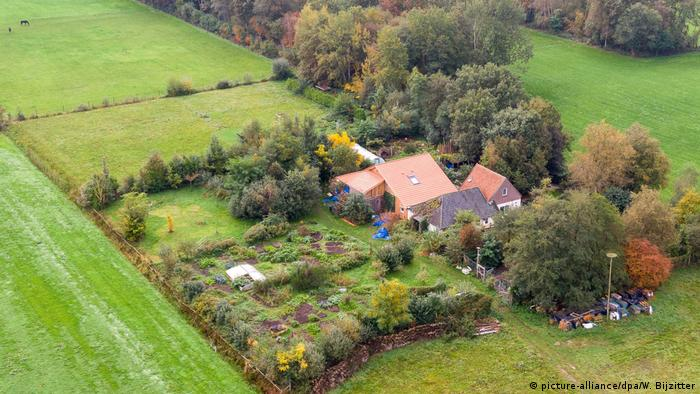 An aerial view of the farm where the family was found in Ruinerwold