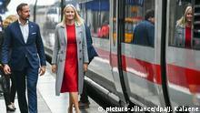 Norwegisches Kronprinzenpaar in Frankfurt