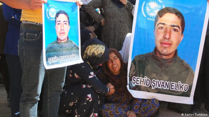 Trauerfeier in Derik, Syrien