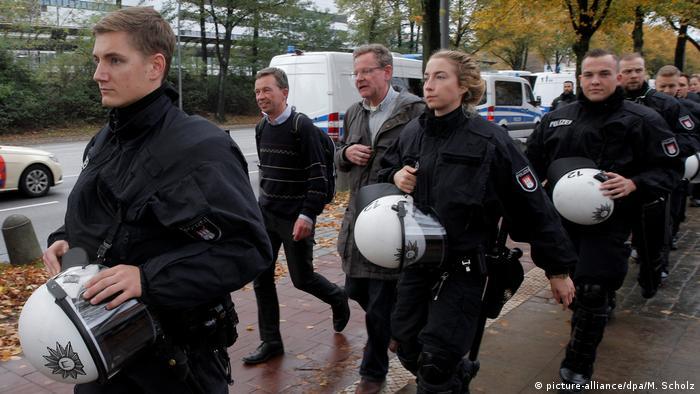 A police escort for Bern Lucke