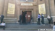 Südafrika Johannesburg | Prozess Manuel Chang, ehemaliger Finanzminister Mosambik | Protest