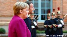 Frankreich Toulouse | Emmanuel Macron & Angela Merkel