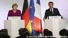 Frankreich Toulouse   Emmanuel Macron & Angela Merkel
