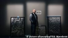 Sebastião Salgado bei seiner Ausstellung Gold in Stockholm