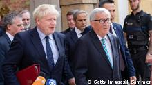 Boris Johnson und Jean-Claude Juncker Brexit
