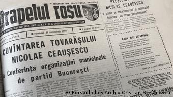 Rumänische Zeitungen zum Thema Fall der Berliner Mauer (Persönliches Archiv Cristian Ștefănescu)