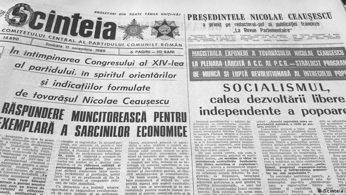 Scînteia din 11 noiembrie 1989