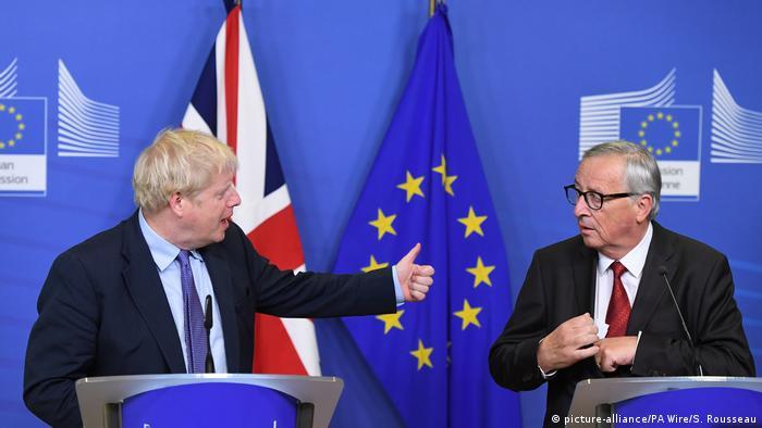 Belgien Brüssel EU Gipfel | Boris Johnson und Jean-Claude Juncker