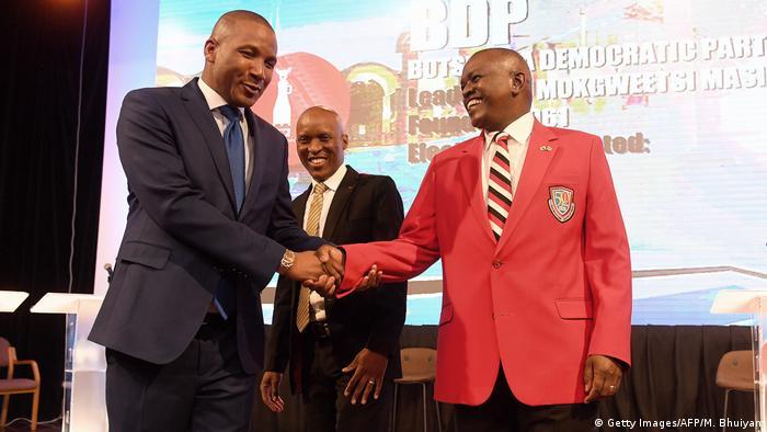 Botswana's President Masisi and the president of the UDC Duma Bok