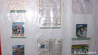 Pakistan Fahndung nach Taliban Plakat in Waziristan