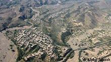 Pakistan Landschaft in Waziristan Luftaufnahme