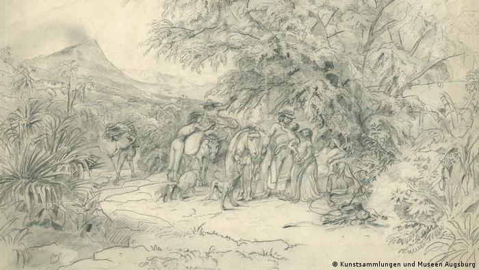 Johann Moritz Rugendas | Sierra Madre, Mexiko. 1831. Archivo Memoria Chilena. Biblioteca Nacional de Chile (Kunstsammlungen und Museen Augsburg)
