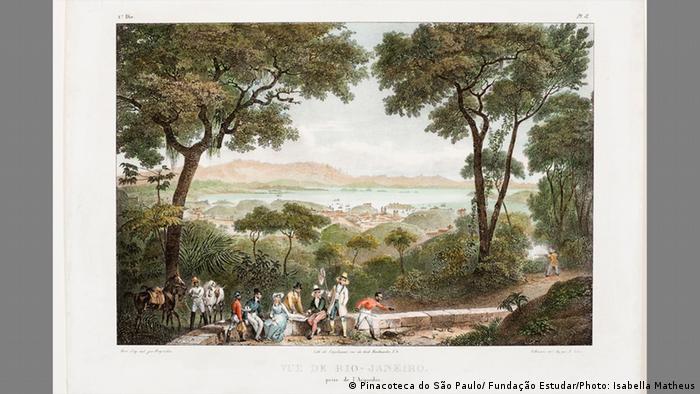 Johann Moritz Rugendas | Die Gesellschaft in Rio de Janeiro, Brasilien. 1821-1825 (Pinacoteca do São Paulo/ Fundação Estudar/Photo: Isabella Matheus)