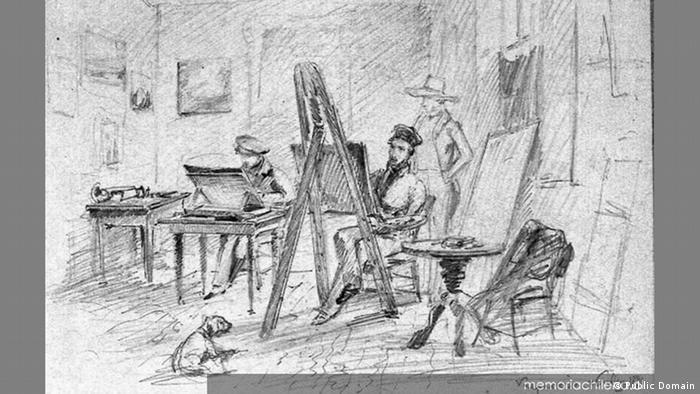 Johann Moritz Rugendas | Atelier von Rugendas in Valparaiso, Chile. 1834. (Public Domain)