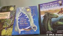 Bücher aus Schottland bei der Frankfurt Buchmesse.