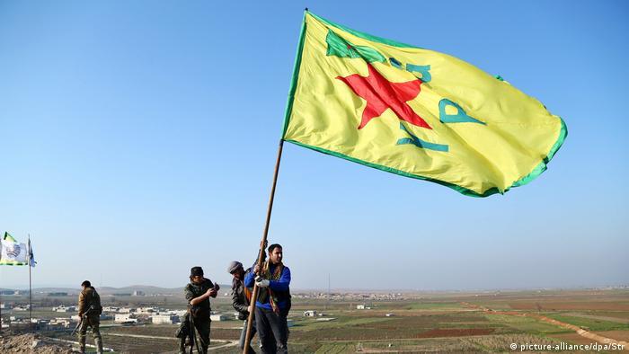 Syrian Kurdish YPG fighters in Kobane