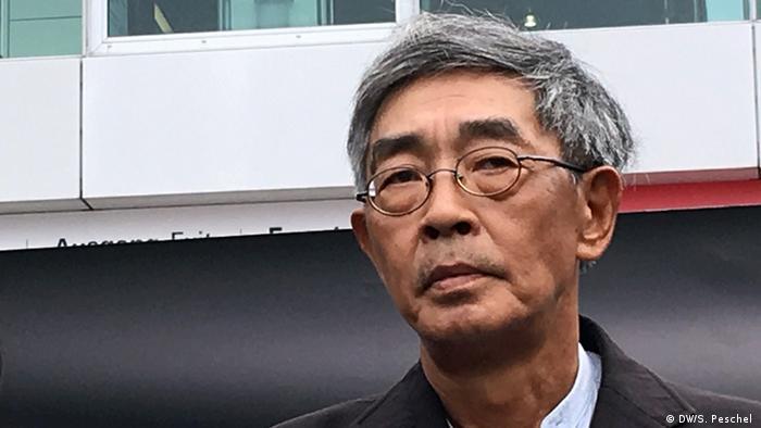 Mahnwache für den entführten Hongkonger Buchhändler GUI Minhai (DW/S. Peschel )
