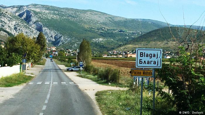Bosnien und Herzegowina: Stadtansicht Blagaj