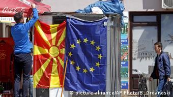 Nordmazedonien EU Flaggenverkauf