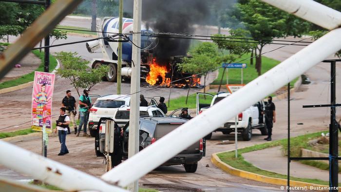 Mexiko Culiacan Kartel Gewalt Schießerei Polizei