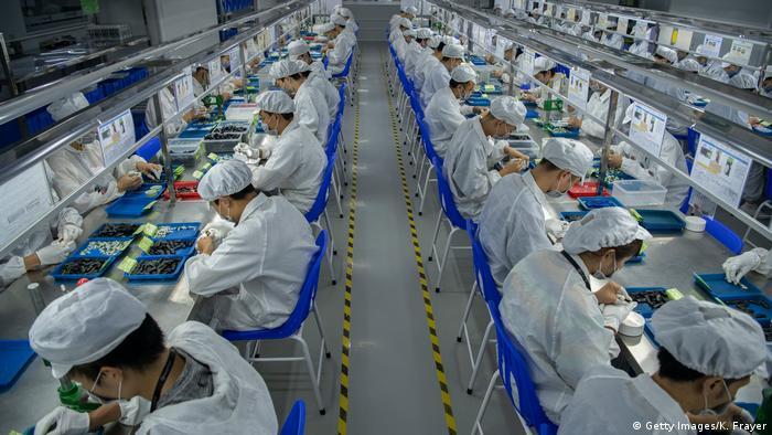 China Shenzen Fabrik Produktion Arbeiter