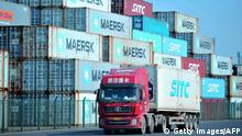China Qingdao Containerhafen