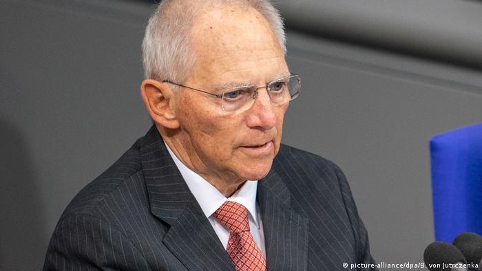 Председатель бундестага Вольфганг Шойбле