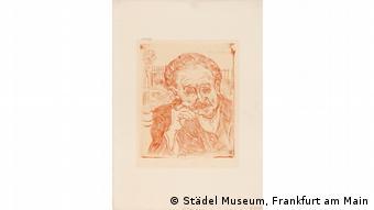 Skizze zum Hauptwerk van Goghs Bildnis des Dr. Gachet, das die Nazis im Städel beschlagnahmten.