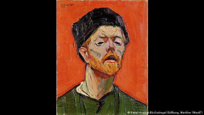 Selbstporträt von Peter August Böckstiegel von 1913 (Peter-August-Böckstiegel-Stiftung, Werther (Westf.))