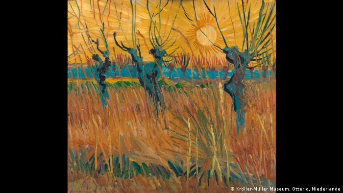 Vincent van Gogh: Willows at Sunset, 1888 (Kröller-Müller Museum, Otterlo, Niederlande)