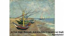 Städel Museum Frankfurt l Making Van Gogh - Segelboote am Strand von Les Saintes-Maries-de-la-Mer