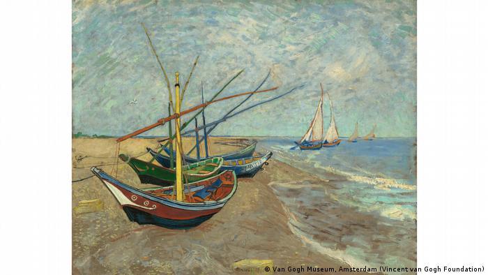 Segelboote am Strand von Les Saintes-Maries-de-la-Mer (Van Gogh Museum, Amsterdam (Vincent van Gogh Foundation))