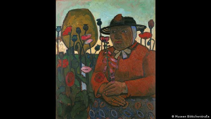 Paula Modersohn-Becker malte die Alte Armenhäuslerin mit Glaskugel und Mohnblume nach dem Motiv van Goghs (Museen Böttcherstraße)