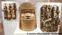 bronze masks fronm BBenin (picture-alliance/dpa/D. Bockwoldt)