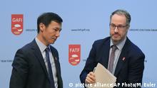 Frankreich l Financial Action Task Force (FATF) Medienkonferenz - Xiangmin Liu und David Lewis