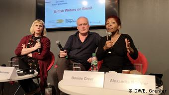 Jan Carson, Patrick McGuinness and Bonnie Greer (DW/E. Grenier)