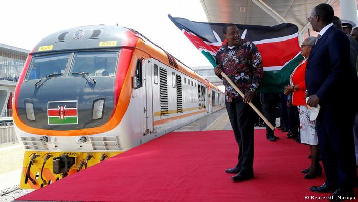 Kenia Gauge Railway (SGR) Eröffnung Uhuru Kenyatta