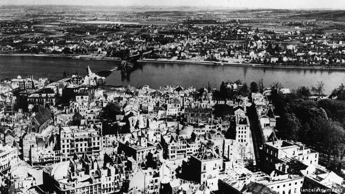 Vista aérea de Bonn, 25 de abril de 1945.