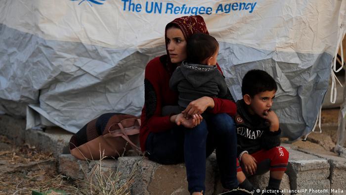 Personas refugiadas sirias.