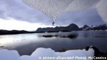 Grönland Eisberg schmilzt in Kulusuk