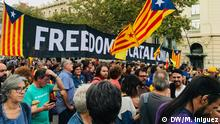 Protesters at a demonstration in Barcelona supporting a referendum on Catalan independence Fotografin ist Mercedes Iñiguez.