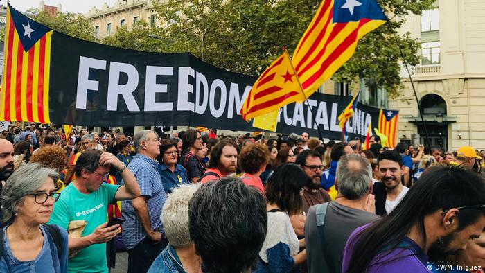 Catalan protesters: 'We want to make a point'