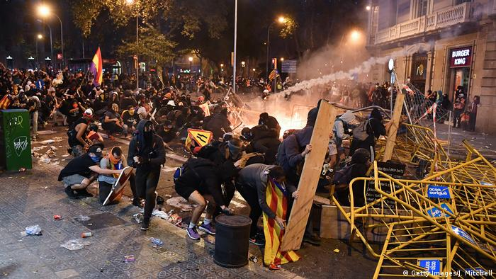 Protests in Barcelona (Getty Images/J. Mitchell)